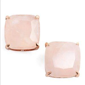 Kate Spade Mini Stud Earrings Rose Quartz